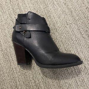 Black western ankle booties